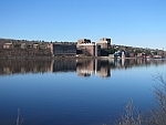 Michigan Tech Campus View on the Keweenaw Waterway