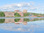 Waterfront view Michigan Tech Campus