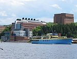 Waterfront view Michigan Tech Campus with MV Ranger III