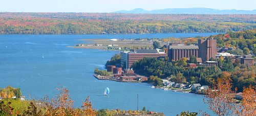 Michigan Tech view in the Autumn